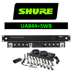 Shure Wireless UA844+SWB 5 way active antenna splitter distributor +DC outs - WITH CABLES
