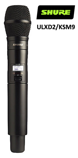 Shure ULXD2 - Handheld Transmitter for Shure ULXD Wireless System Select Head