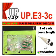 "UPstage UP.E3-3 1/10"" omni Earset Mic Kit for Theatre - 1 of each boom - 4.2"", 3.3"", 1.4"" - great value"