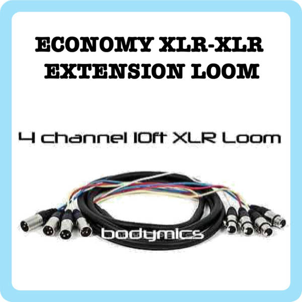 Loom: 4x XLR(f) - XLR(m) - Standard Extension Snake - 10ft - (Loom Audio)