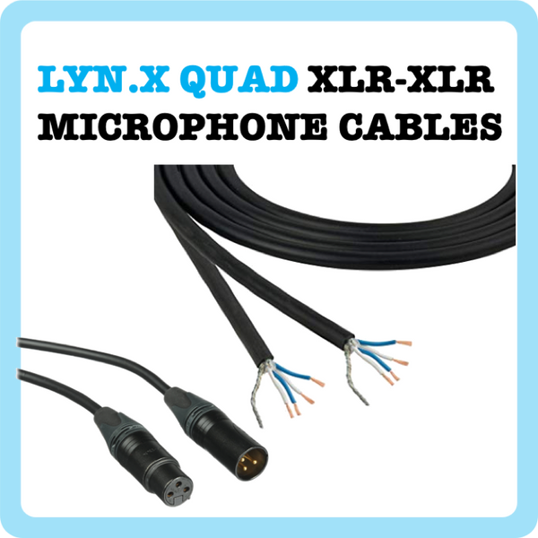 1. Mic Cable - Tour Quad Flexible - Black - 1ft to 100ft (Cable Microphone)