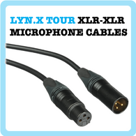 1. Mic Cable - Tour Flexible - Black - 1ft to 100ft (Cable Microphone)