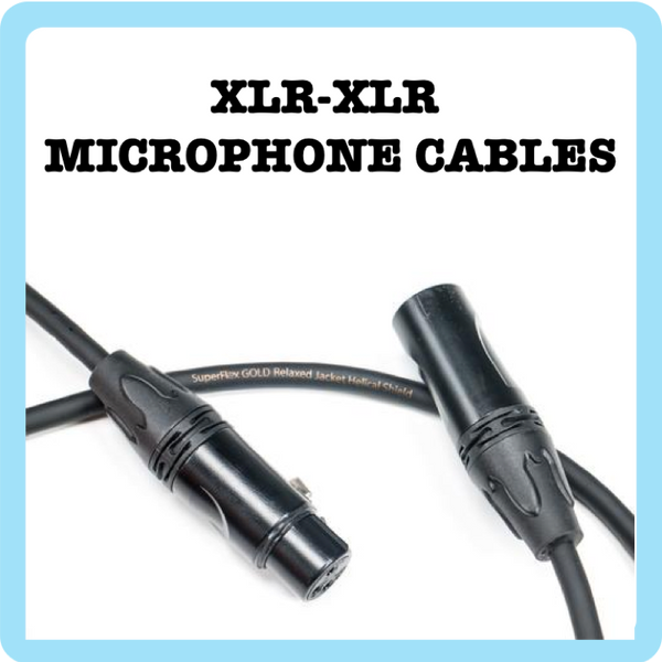 1. Mic Cable - Premium Flexible - Black/Midnight Blue - 1ft to 100ft (Cable Microphone)