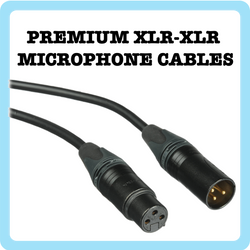 1. XLR-XLR Premium Microphone Cable - 25Ft Flexible Black (Cable Microphone)