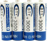 NiMH AA 1000mAh Rechargeable Battery - 4, 8,16, 24 pack for wireless microphone