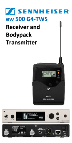 Sennheiser ew500 G4 Theatre WirelEss Bodypack System - select band