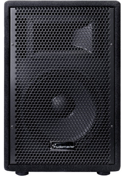 "Studiomaster GX10 - 150w 2 way 10"" trapezoidal passive speaker box"