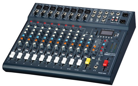 Club XS 12 - Studiomaster 8 mic channels, 2 stereo, MP3 Player, Compressors (Mixers)