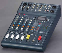 Club XS 6 - Studiomaster 2 mic channels, 2 stereo, MP3 Player, Compressors Small Mixer)