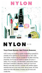 Trust Fund Beauty Nail Polish Remover wipes in Nylon Magazine