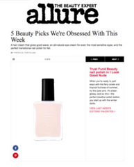 Trust Fund Beauty 10-free nail polish in I Look Good Nude in Allure Magazine