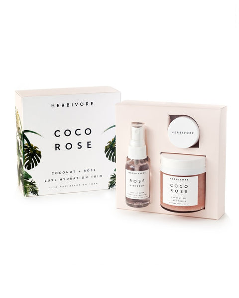 Herbivore Botanicals Coco Rose Luxe Hydration Kit in box