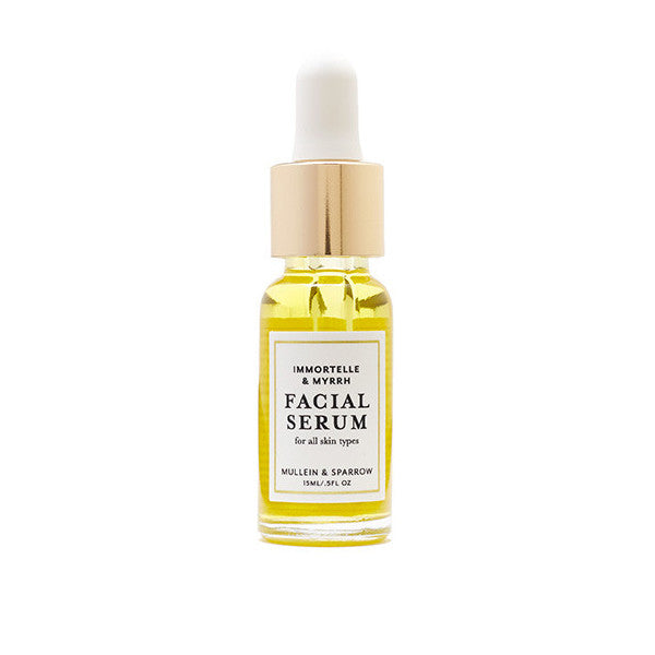 Mullein & Sparrow Immortelle & Myrrh Facial Serum bottle