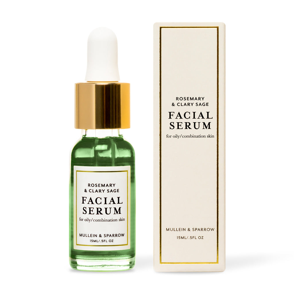 Mullein & Sparrow Rosemary and Clary Sage Facial Serum bottle