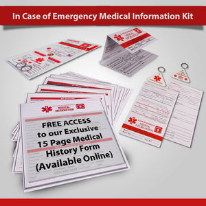 In Case of Emergency My Medical Information Kit (for people)