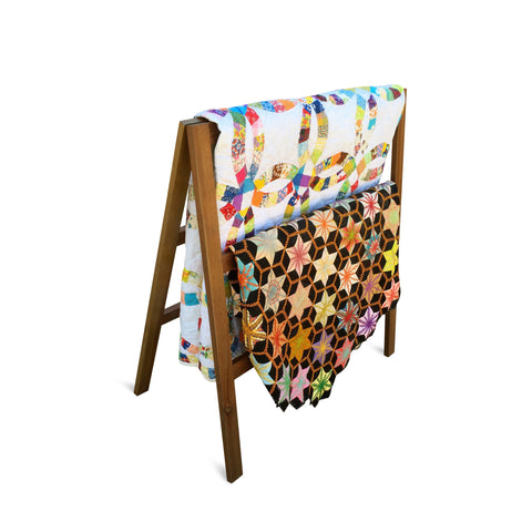 3 Tier Quilt Rack- A-Frame Ladder Style, Folds Flat for Storage