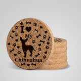 """I love my Chihuahua"" premium coaster set. Add a rustic or urban design Coaster Holder."