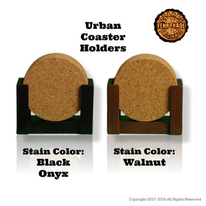 """I love my Weimaraner"" premium coaster set. Add a rustic or urban design Coaster Holder."