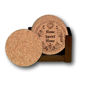 """Home Sweet Home"" (Pennsylvania Dutch) Premium Home Coaster Set with personalization options!"