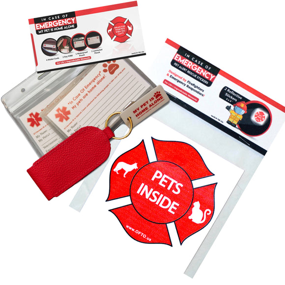 Pet Emergency Package: Reflective Stickers +