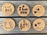 Best Father's Day Gift ever!  Your child's artwork or drawings turned into premium coaster sets!