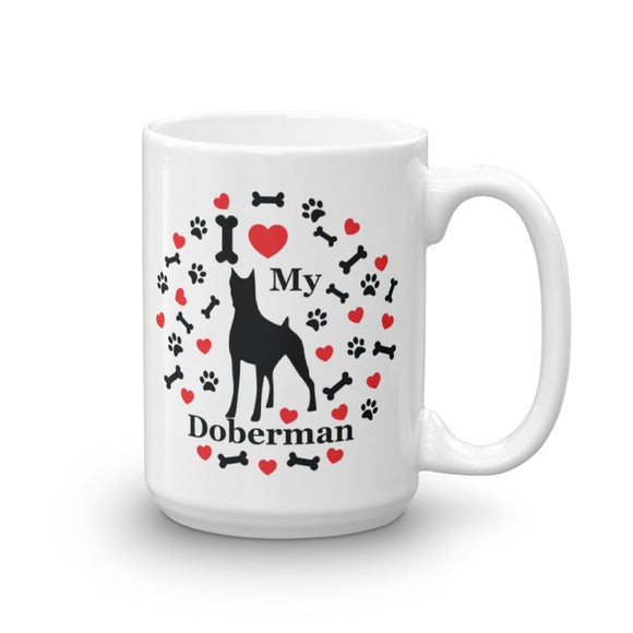 I love my Doberman 15oz Coffee Mug