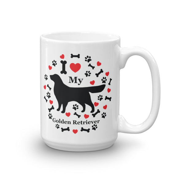 I love my Golden Retriever 15oz Coffee Mug