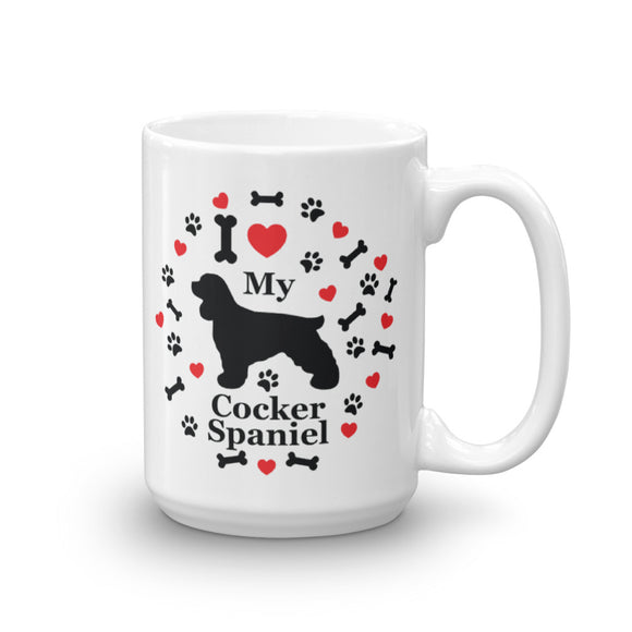 I love my Cocker Spaniel 15oz Coffee Mug