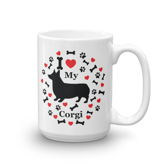 I love my Corgi 15oz Coffee Mug