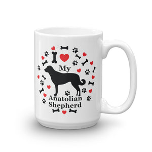 I Love My Anatolian Shepherd 15 oz Coffee Mug