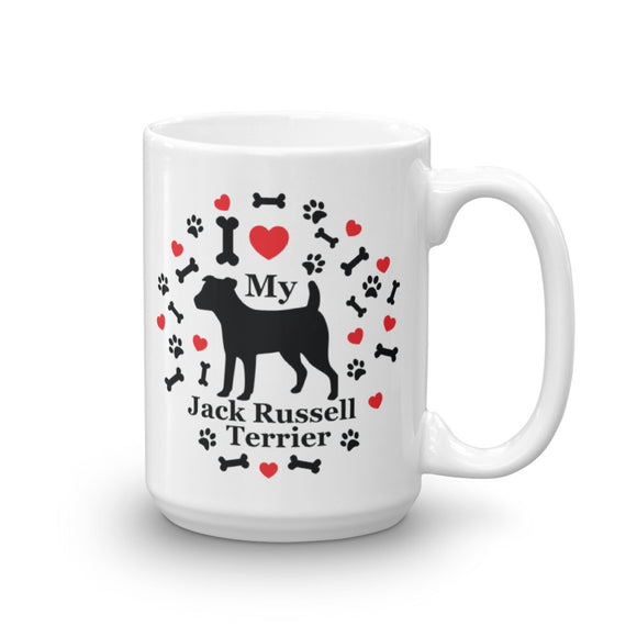 I love my Jack Russell Terrier 15oz Coffee Mug