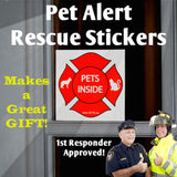 "Pet Emergency Package: Reflective Stickers + ""ICE"" Cards & Key Fobs- In Case of Emergency"