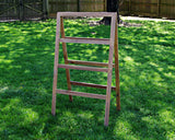4 Tier Quilt Rack- A-Frame Ladder Style, Folds Flat for Storage