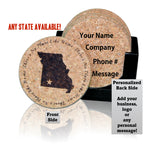 """There's No Place Like Home"" Premium Home Coaster Set with personalization options!"