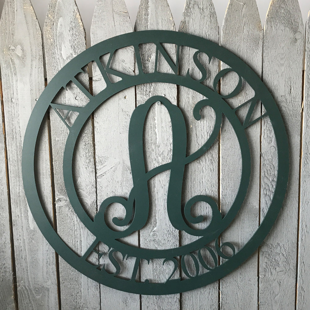 3 Part Custom Monogram
