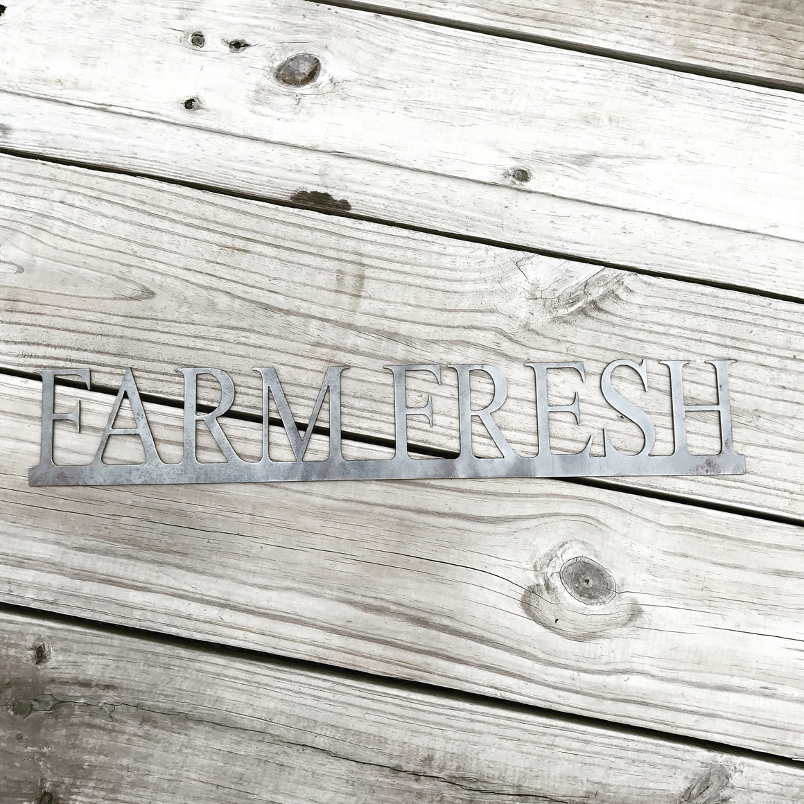 "Rustic ""Farm Fresh"" Metal Design"