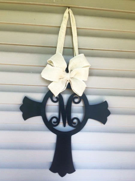 "Custom 24"" Monogrammed Cross -"