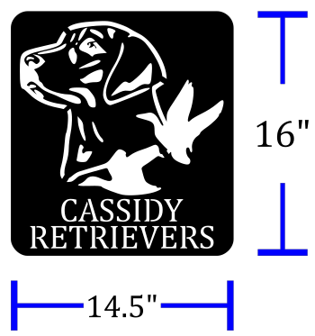 Cassidy Retrievers Custom Sign