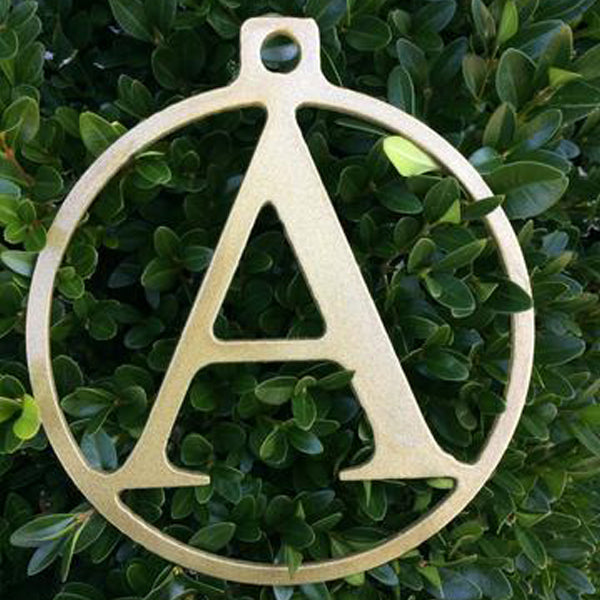 "6"" Monogrammed Christmas Ornament"
