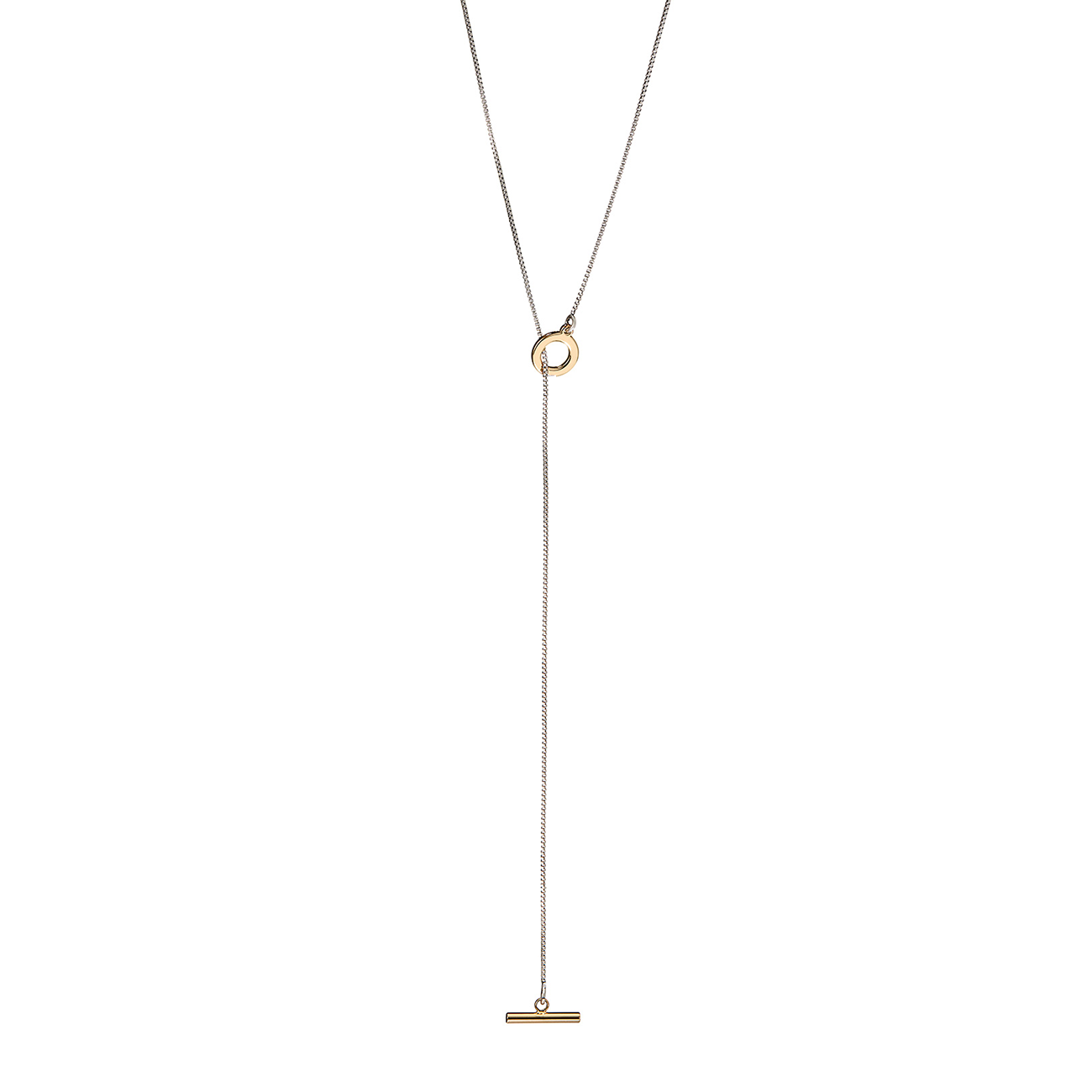 Mimi Lariat - Long by Jenny Bird in Two-Tone