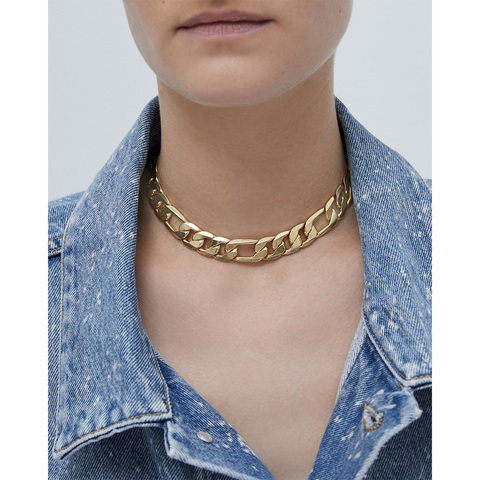 Gold link Carter Choker chain necklace by JENNY BIRD