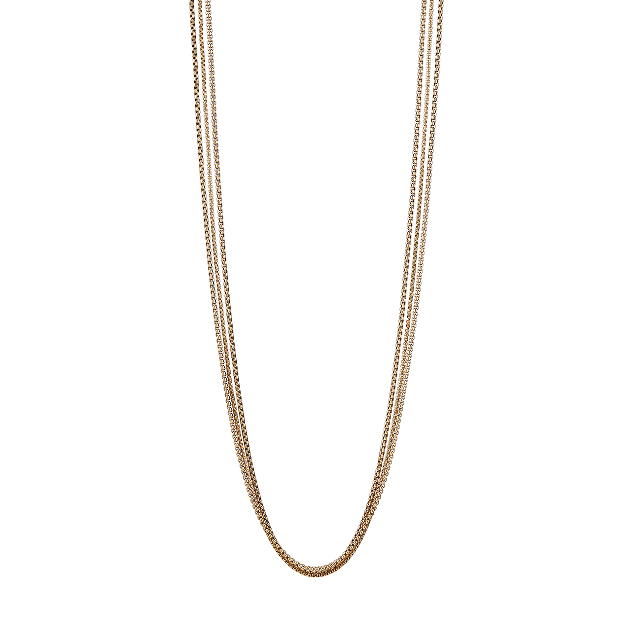 Long gold Billie Chains necklace by Jenny Bird