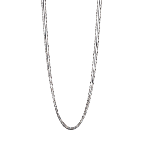Long silver Billie Chains necklace by Jenny Bird