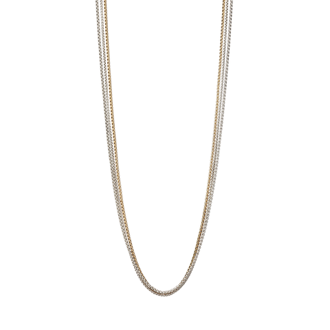 Long gold and silver Billie Chains necklace by Jenny Bird