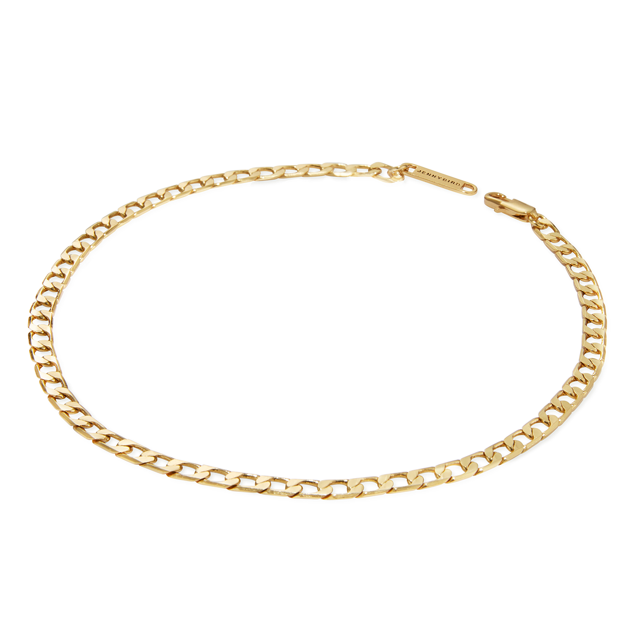 Gold small chain link Walter Choker necklace by JENNY BIRD