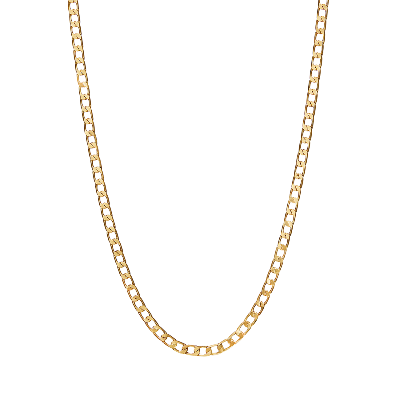 Gold The Walter flat curb chain necklace by JENNY BIRD