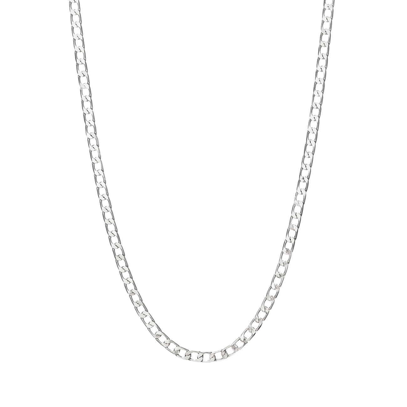 Silver The Walter flat curb chain necklace by JENNY BIRD