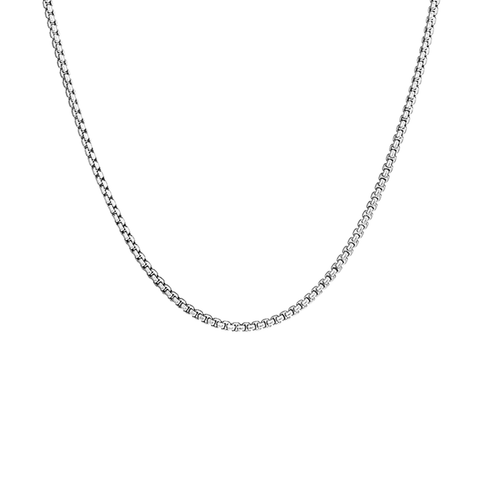 Long silver collar Francis chain Necklace by JENNY BIRD