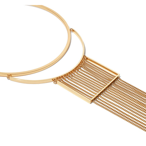 Jenny Bird Fallingwater Collar in High Polish Gold