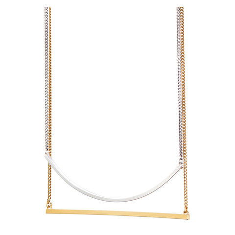 Jenny Bird Tula Swing Necklace in Gold and Silver